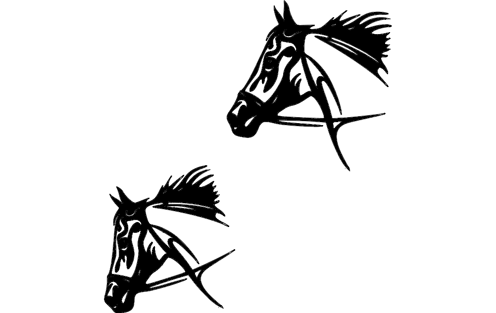Tribal Horse dxf File