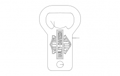 Harley bottle opener dxf File