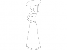 African Woman 3 dxf File