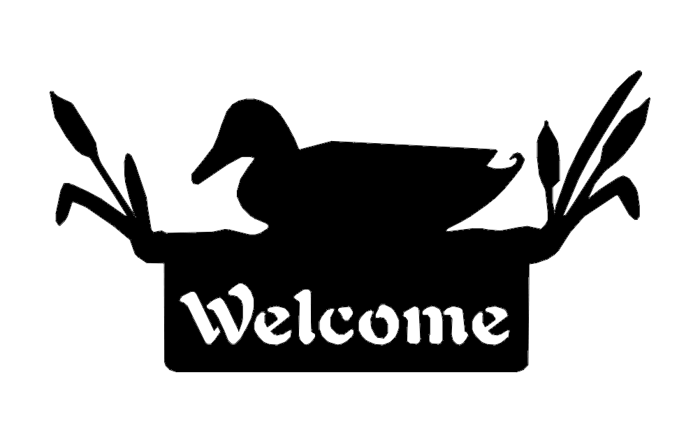 Welcome Sign Duck dxf File
