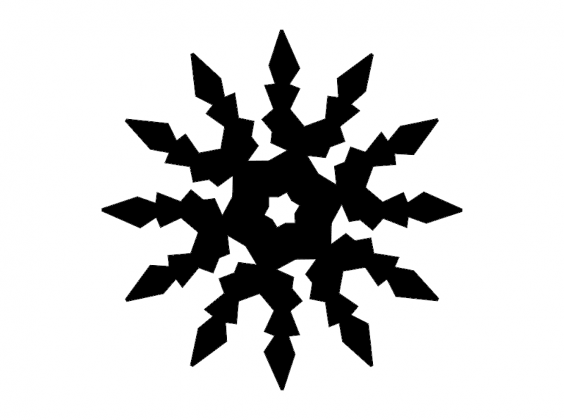 Snowflake Digital Cut dxf File