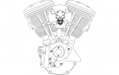 V-twin engine dxf File