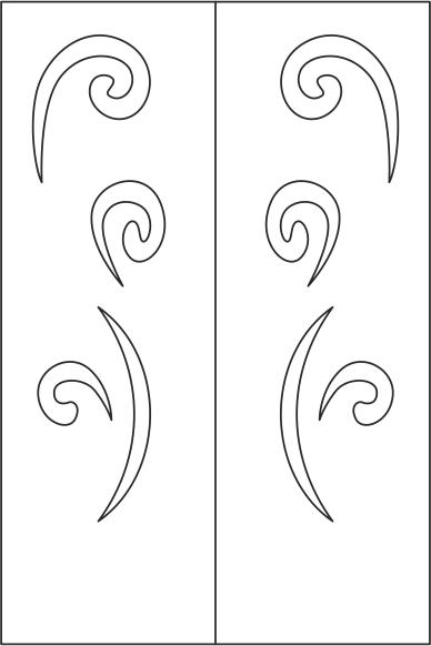 Elegant Wardrobe Door Design Vector Free Vector