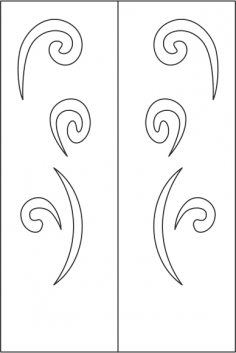 Elegant Wardrobe Door Design Vector Free Vector