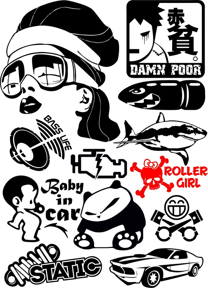 Vinyl Stickers Vector Pack Free Vector Cdr Download 3axis Co