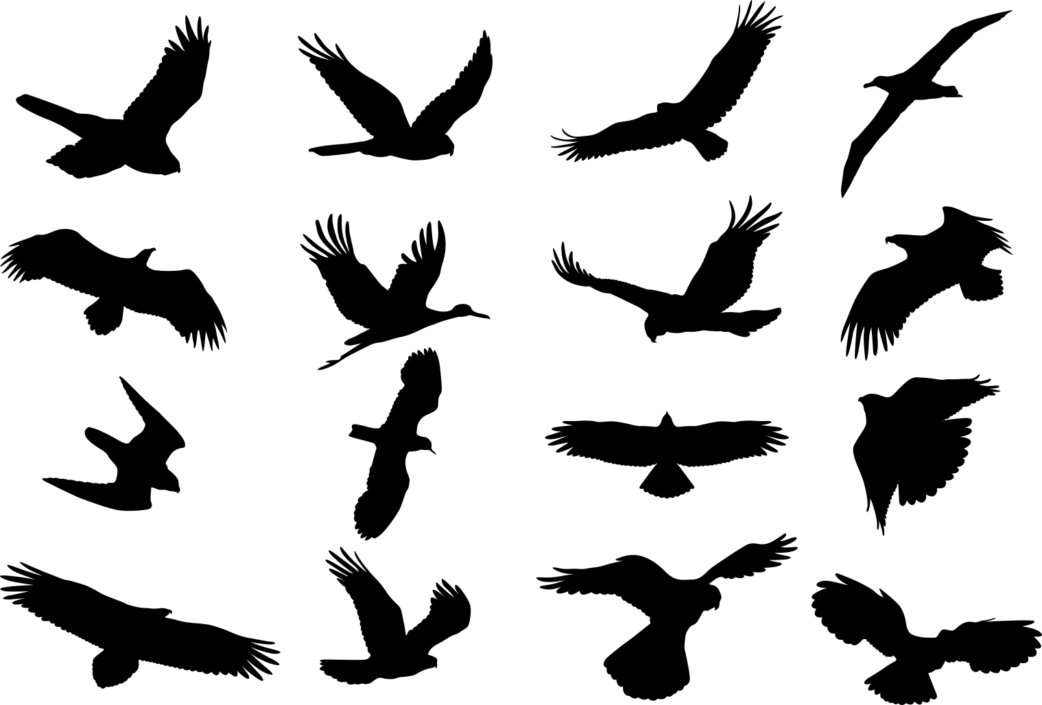 Birds Silhouette Vector Set CDR File