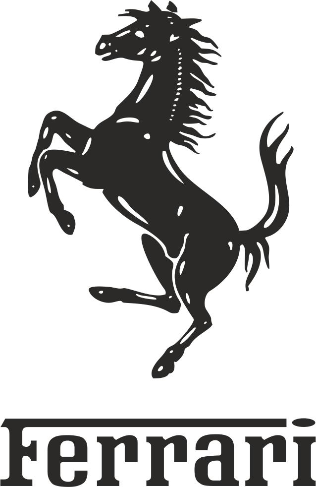 Ferrari Logo Vector CDR File