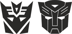 Transformers Stickers Decals Free Vector