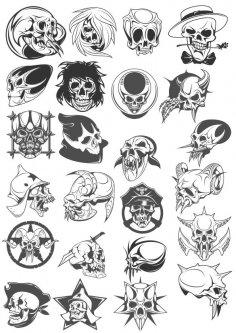 Skull Vector Pack Free Vector