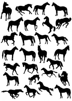 Horse Silhouette Vector Free Vector