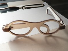Laser Cut Foldable Wooden Glasses Free Vector