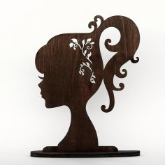 Laser Cut Stands for Jewelry Fairy and Flower Free Vector