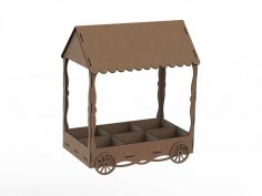 Laser Cut Plywood Candy Cart Template Free Vector