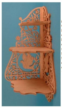Laser Cut Corner Shelf Scroll Saw Plans PDF File