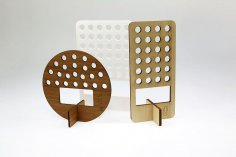 Laser Cut Wooden Pen Holder 5mm Free Vector