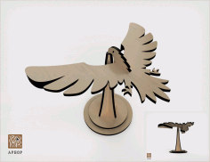 Laser Cut Balancing Bird 3mm Free Vector