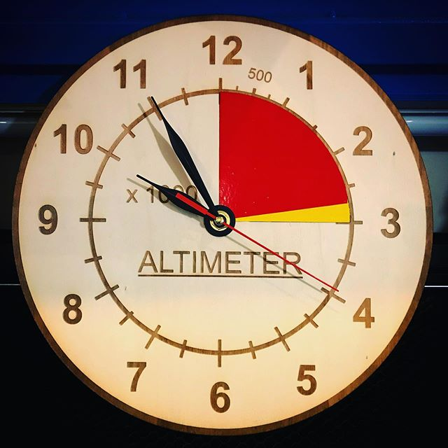 Laser Cut Altimeter Clock Free Vector