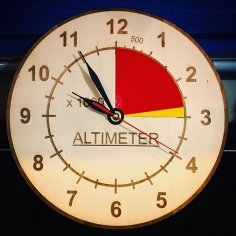 Laser Cut Altimeter Clock Free Vector