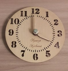 Laser Cut Large Wall Clock Template Free Vector