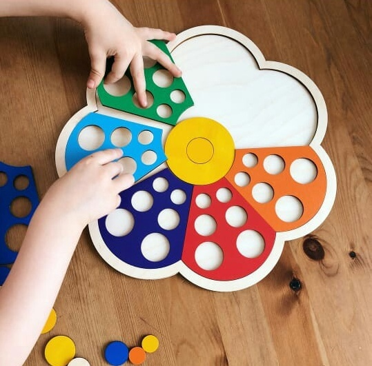 Laser Cut Educational Toy for Children Free Vector