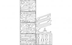3D Cruise ship Crucero 3mm dxf file