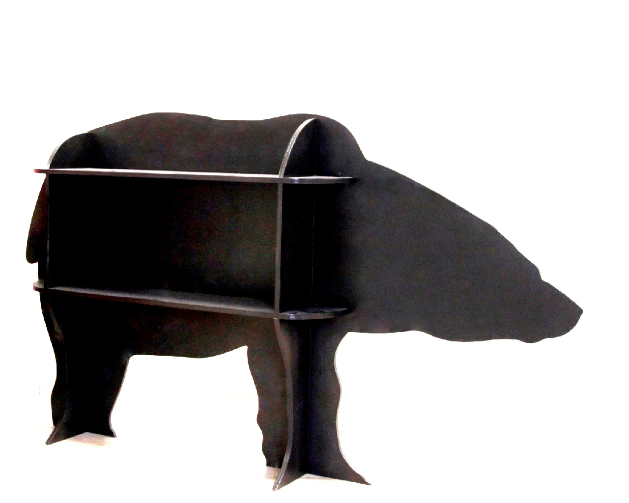 Laser Cut Wooden Bear Shelf Free Vector