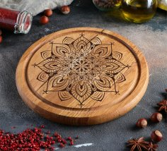 Laser Engraving Design For Food Serving Board Free Vector