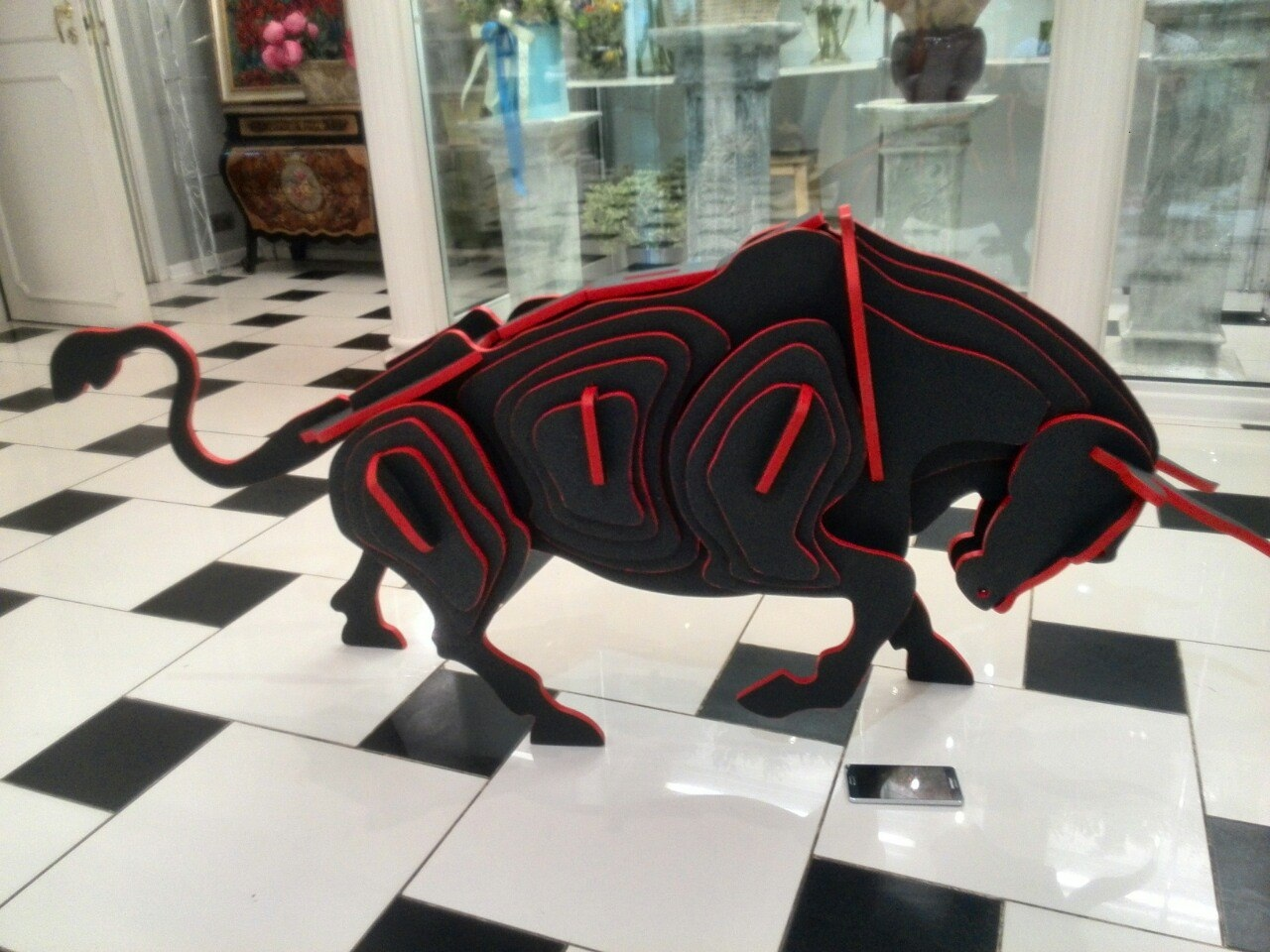 Laser Cut Bull 3D Puzzle Wooden Model DXF File