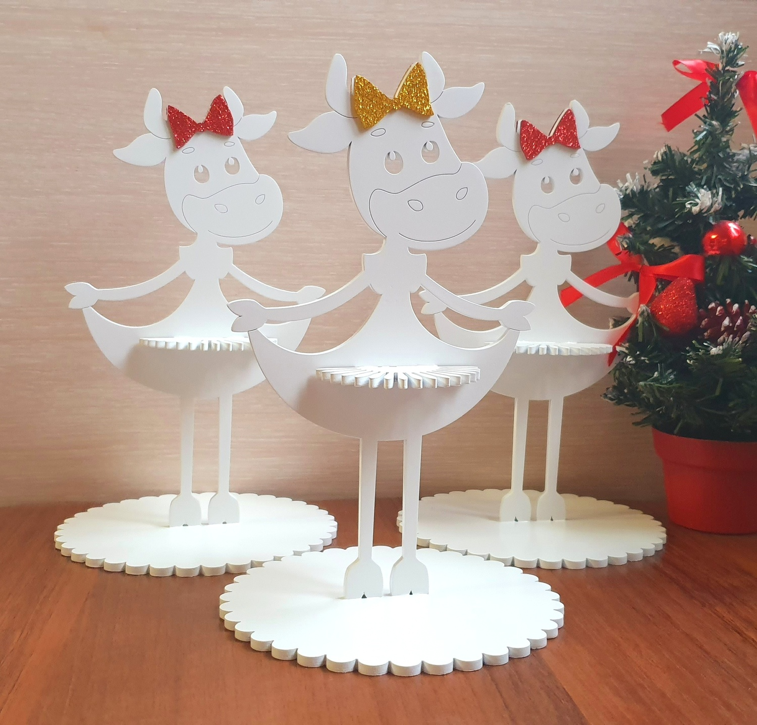 Laser Cut Christmas Napkin Holder Christmas Table Decorations Free Vector