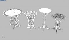 Laser Cut Decor Tables Set Free Vector