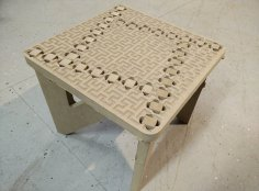 Binary Tree Foot Stool Laser Cut CNC Router Plans Free Vector