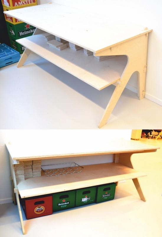 Laser Cut Plywood Clean Desk Free Vector