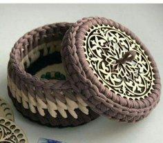Laser Cut Wooden Bottoms For Knitting Baskets Crochet Basket Bases Free Vector
