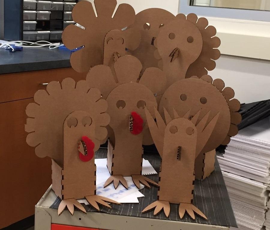 Laser Cut Turkey Box Thanksgiving Ideas Turkey Craft Free Vector