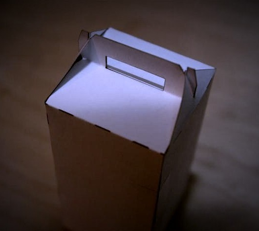 Laser Cut Gable Box Template DXF File