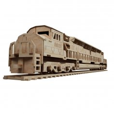 Laser Cut Diesel Locomotive Wooden Train Engine Toy Train DXF File