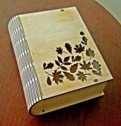 Laser Cut Book Box With Living Hinge Free Vector