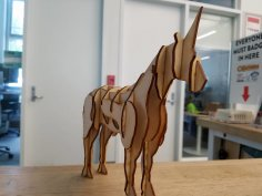 Laser Cut Unicorn Free Vector