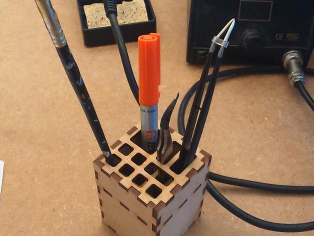 Pencil Holder Laser Cut Template SVG File