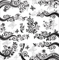 Fashion Floral Pattern Free Vector