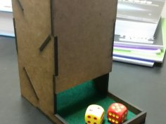 Dice Tower 0.125in DXF File