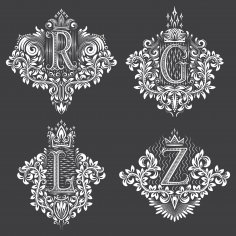 Decorative Letter Set EPS File