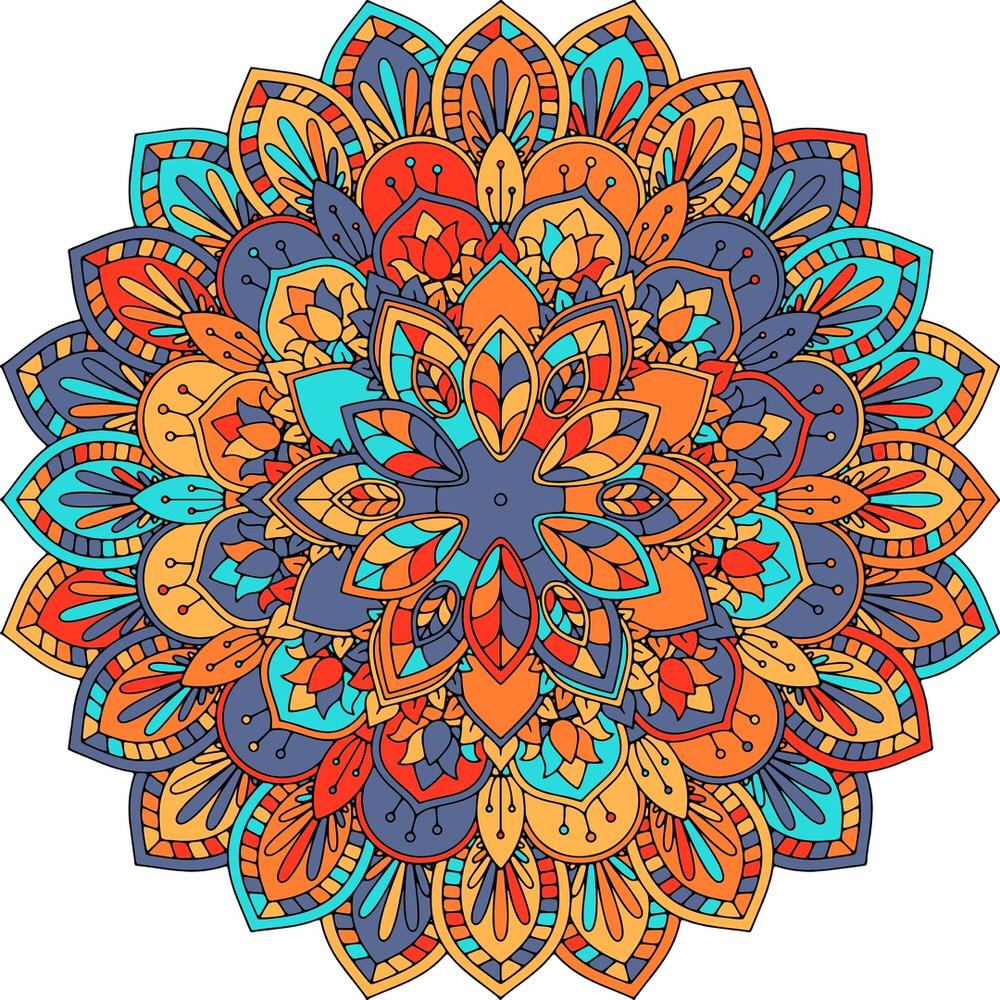Abstract Mandala Design Free Vector