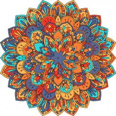 Abstract Mandala Design Free Vector