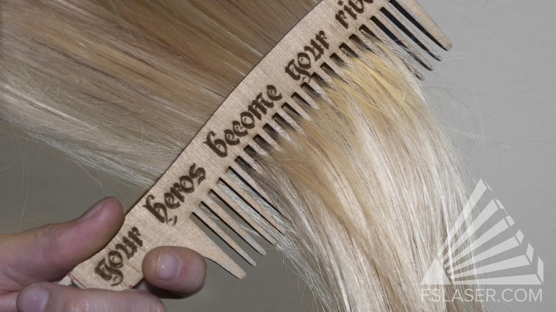 Laser Cut Long Comb SVG File