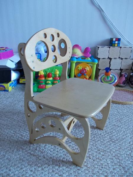 Decorative High Chair For Kids Laser Cut CNC Router Plans Free Vector