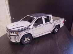 Laser Cut Toyota Hilux 3D Cutting Hdf 2 5mm Free Vector
