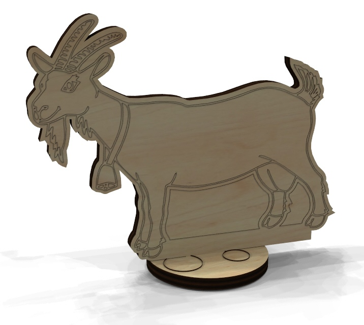 Wooden Animal Toy Decoration Laser Cutting Template Free Vector