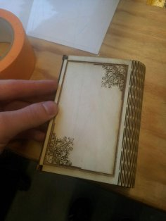 Laser Cut Wooden Flex Box With Engraving DXF File
