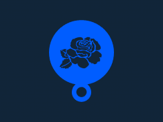 Rose Coffee Stencil stl file